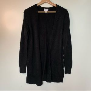 Old Navy Long Open Cardigan Black Size Small